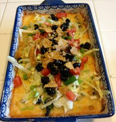 Chicken taco bake. Great use of leftover chicken.