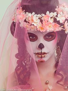 Blossom Skull (by Lloyd K. Barnes Photography)  Model: Tia Guzzo Makeup: Jennifer Ruth Hair Styling: Rhi Yee Fashion stylist: Jihan Amer Set decorator: Guen Gianfranchi Photography: Lloyd K. Barnes    Some more sugar skull  photos from the shoot posted on my website.