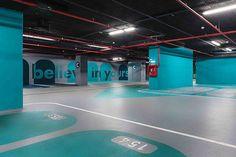 Underground parking for Stejarii Country Club.
