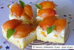 Barackos-túrós kocka Mara konyhájából Cheesecake, Food, Meal, Cheese Cakes, Eten, Cheesecakes, Hoods, Meals