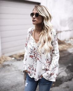 Beaming Florals Top