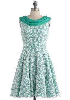 Wintergreen Gala Dress. Linking arms with your sweetheart, you make your grand entrance to tonights gala celebration. #mint #modcloth