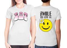 """Smile"" Sorority Screenprinted Shirts #Greek #Sorority #Clothing #SDT #SigDelt #Smile #Screenprint"