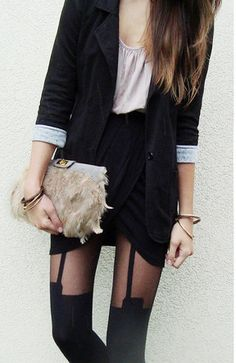 House of Holland <3 Suspender tights.