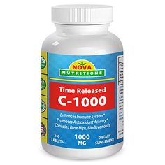Vitamin C1000 mg 240 Tablets Time Released by Nova Nutritions * Be sure to check out this awesome product.