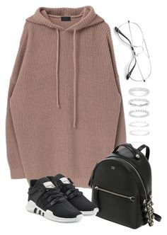 """""""Untitled #3643"""" by theeuropeancloset on Polyvore featuring Fendi, adidas Originals and Belk Silverworks"""