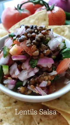 Lentils Salsa ready in less than 15 minutes #ABRecipes #MelissasProduce