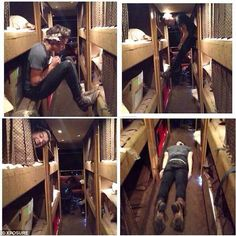 One Direction's Harry Styles showed off his cute funny side by taking amusing pictures of himself as he tried to keep occupied on the band's tour bus. via dailymail.co.uk