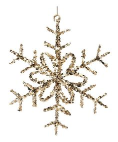 This Glitter & Sequin Snowflake Ornament by Regency International is perfect! #zulilyfinds