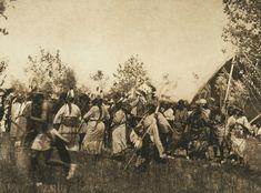 Deer society, animal dance - Cheyenne (The North American Indian, v. XIX. Norwood, MA, The Plimpton Press, 1930)
