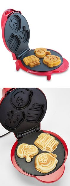 Snoopy & Charlie Brown shaped waffle maker! #product_design