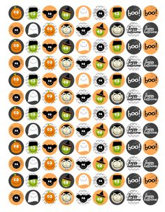 Free Mini Halloween Stickers