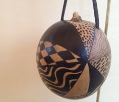 Zentangle inspired Gourd Ornament by gourdgeousdesign on Etsy, $8.00