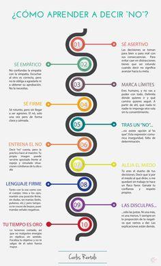"""Cómo aprender a decir """"no"""" #infografía"""