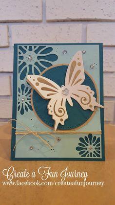 Fun Stampers Journey Artful Butterfly Using Envelope Set Thin Metal Die By Janet Doll www.facebook.com/createafunjourney