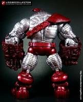 Aoa Colossus custom action figure from the Marvel Legends series using MLs as the base, created by loosecollector. Marvel Legends Series, Hulk Marvel, Avengers Movies, Custom Action Figures, Punisher, Venom, The Incredibles, The Punisher