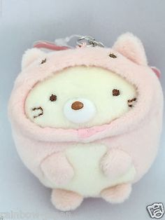San-X Sumikko Gurashi Plush Doll Key Chain Strap Neko Cat Kawaii From JAPAN