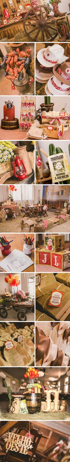 Festa infantil no tema faroeste por Diego Segura no blog Festa de menino. Indian Birthday Parties, Horse Birthday Parties, Cowboy Birthday Party, Cowboy Theme Party, Horse Party, Rodeo Party, Country Themed Parties, Western Parties, Farm Animal Party