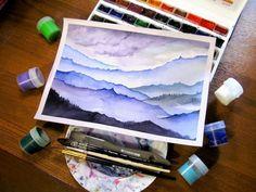 #ArtBySilmairel #MyArt #Art #Artwork #Art_Gallery #Art_We_Inspire #Artist #Drawing #InstaArt #Illustration #Watercolor #Акварель #WatercolorPainting #InstaWatercolor #PaintBrush #БелыеНочи #FaberCastell #Nature #Mountains #Горы #Sky #Tolkien #TheHobbit #Magic #Fantasy #Blue #Violet #KalachevaSchool #Photo #BestOfTheDay
