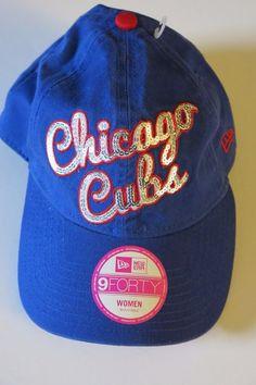 NWT New Era Chicago Cubs Women's Bling Baseball Cap World Series Winners! #NewEra #BaseballCap