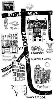 charlotte lucie farmer illustration: elle maps of London Map Projects, London Map, Travel Illustration, London Illustration, Travel Maps, Travel Packing, City Maps, Map Design, Art Graphique