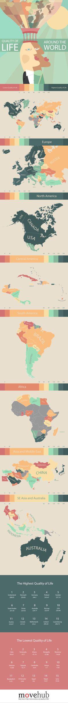 Índice de calidad de vida de @movehub #mapa #relacionesinternacionales #diplomacia #marcapais #branding #diplomaciadigital