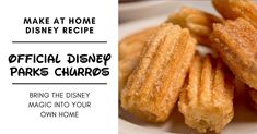 Disney Recipe: Recreate The Delicious Disney Churro Inside Your Own Kitchen Disney Themed Food, Disney Food, Disney Recipes, Walt Disney, Dog Recipes, Copycat Recipes, Family Recipes, Churros, Butter Bakery