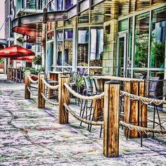 Austin,TX/ Trifecta bar & restaurant.  With downtown rents being so high, many places expand out to the sidewalk. Going boating this evening with a person of interest..:) Paddling in the moonlight, isn't that a song? Should be..lol Photo by Jim Allen on Flickr #austin #texas #atx #good #nice #beautiful #paint #image #cool #fine #art #awesome #restaurant #instagram #instagood #photo #photoshoot #photography #color #life #love #style #lifestyle #bar #street #lifeisgood #austins_places
