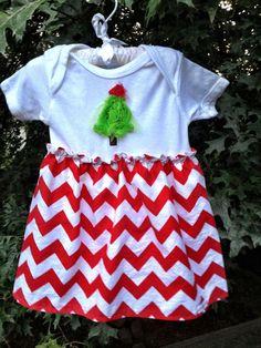 Chevron Christmas  Dress by Madebyjoli on Etsy, $23.00