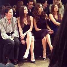 front row at Donna Karan