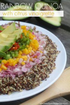 Rainbow Quinoa with Citrus Vinaigrette #NOWWellness #ad
