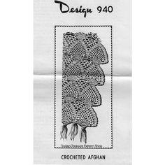Pineapple Crochet Afghan Pattern Design 940 | Todays Treasure Pattern Shop