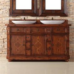 "Check out the James Martin Furniture 400-V60D-BNA-BNA Charleston 60"" Double Vanity in Burnished Ash with Wood Top - Vanity Top Included priced at…"