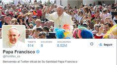 El Papa alcanza los 20 millones de seguidores en Twitter