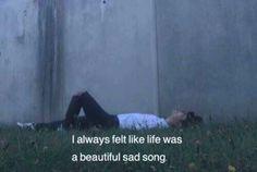 Imagen de sad, life, and song