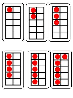 HereS A Set Of ColorCoordinated Ten Frames And Number Cards From