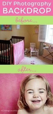 Easy DIY Photography Backdrop Idea - By Amy Locurto for iHeartFaces.com