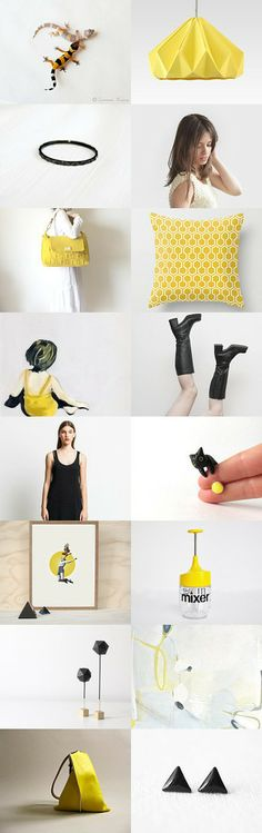 summer sun :: treasury by Barbara on #Etsy #yellow #black #modern #gifts #fashion #interior #home #decor #art