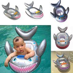 Nueva Tiburón En Forma de Niños Piscina Inflable Del Flotador Del Asiento Del Niño Del Bebé de Natación Anillo de Pescado de Alta Calidad
