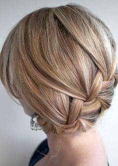 Elegant Braided Updo.
