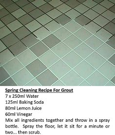 Spring Cleaning Recipe For Grout
