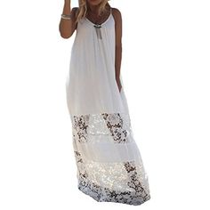 Donalworld Sexy Women Summer Boho Long Maxi Evening Party Beach Dress Sundress White Asia Size 2XL >>> See this great product.