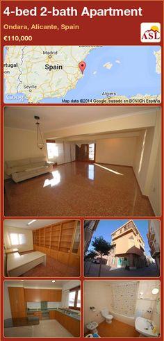 4-bed 2-bath Apartment in Ondara, Alicante, Spain ►€110,000 #PropertyForSaleInSpain