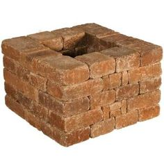 Pavestone Rumblestone RumbleStone 28 in x in. x 28 in. Square Concrete Planter Kit in Sierra - The Home Depot