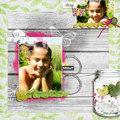 Scrapbook Page with multiple cluster foundation by Amy Kingsford | GetItScrapped.com/blog