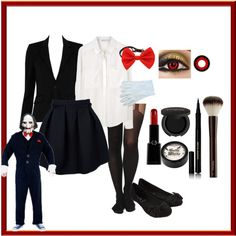 well the tittle says it all. Its a home made Billy the Puppet female version costume. Since they don't have female versions of Billy in any stores I decided to...