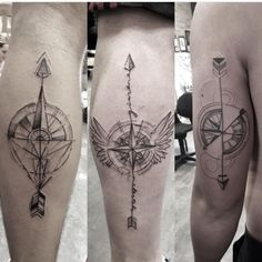 Tatuagem de Flecha - Arrow Tattoo. Por Lucas Martinelli