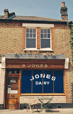 Jones Dairy, London / near Columbia Road Market Café Bistro, Shop Facade, Columbia Road, Cafe Shop, Shop Fronts, Shop Around, Cafe Restaurant, Architecture, Exterior