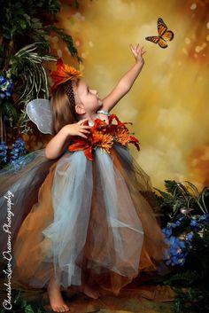 fairie princess dress 5T   ... Prop..Brown,Blue,Old Gold..Fairy Princess TUTU Dress 3pc Size 12m-5T