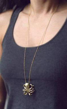 Octopus Necklace... you know deep down part of you has wanted to be an octopus before...